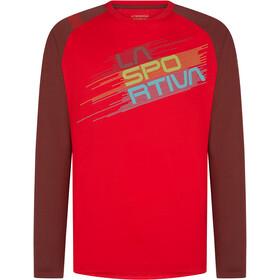 La Sportiva Stripe Evo Maglietta a maniche lunghe Uomo, rosso